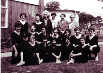04-With dance group and lecturers Second row 2nd from right